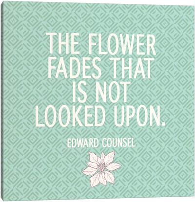 Look At Flowers Canvas Print #FLPN148