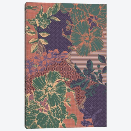 Flowers&Ornaments (Multi-Color) Canvas Print #FLPN149} by 5by5collective Canvas Artwork
