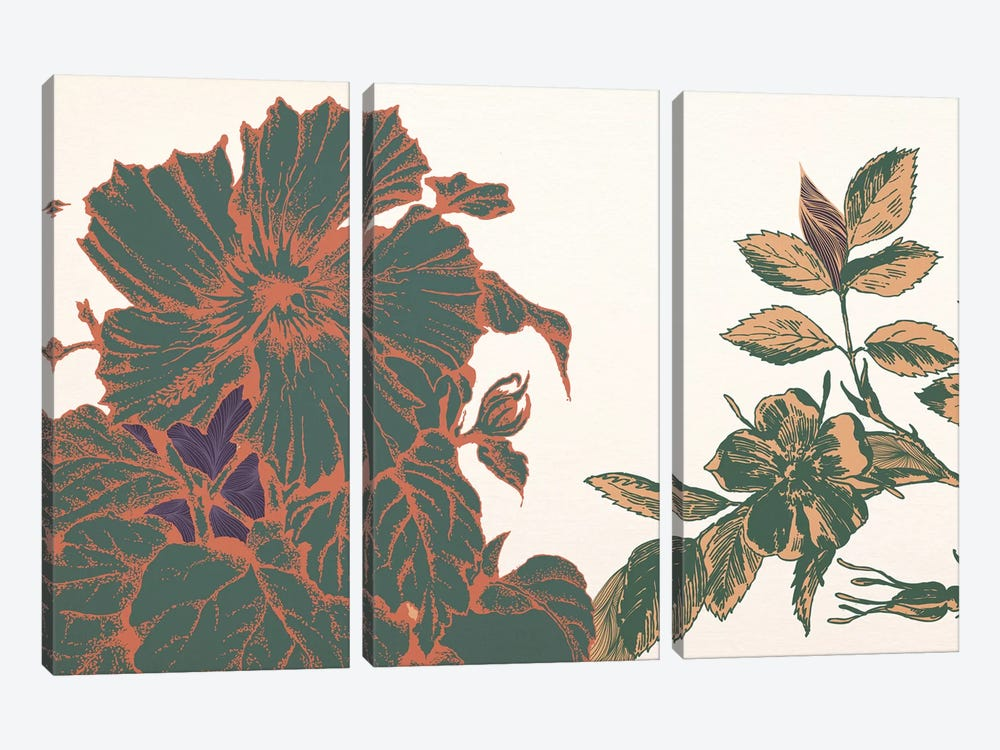 Flowers&Sprigs by 5by5collective 3-piece Canvas Print