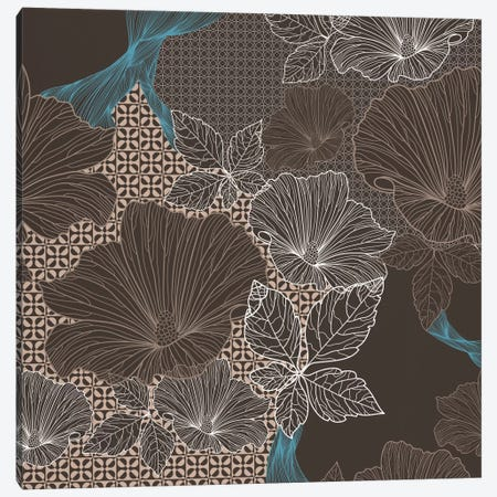 Floral Patterns (Brown&Black) Canvas Print #FLPN153} by 5by5collective Canvas Print