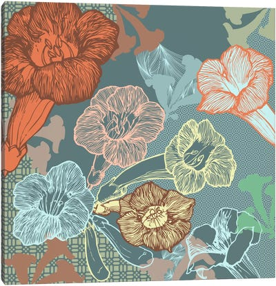 Patterns&Flowers (Multi-Color) Canvas Print #FLPN157