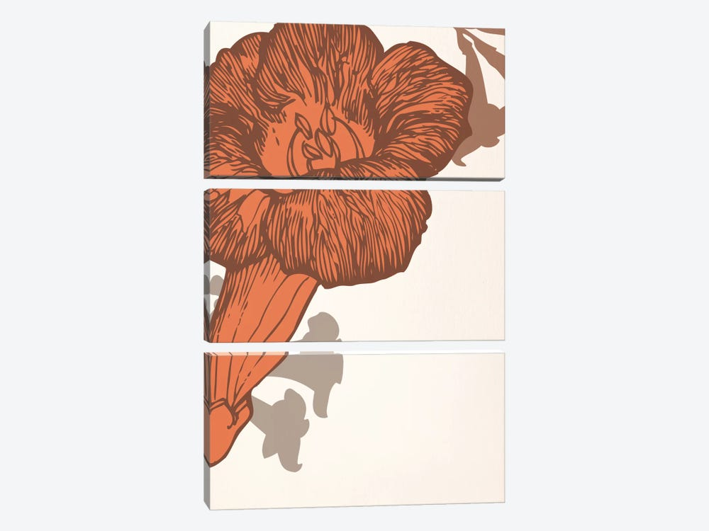 Red Flower by 5by5collective 3-piece Canvas Wall Art
