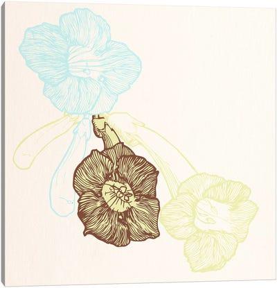 Flowers (Yellow&Blue) Canvas Print #FLPN159