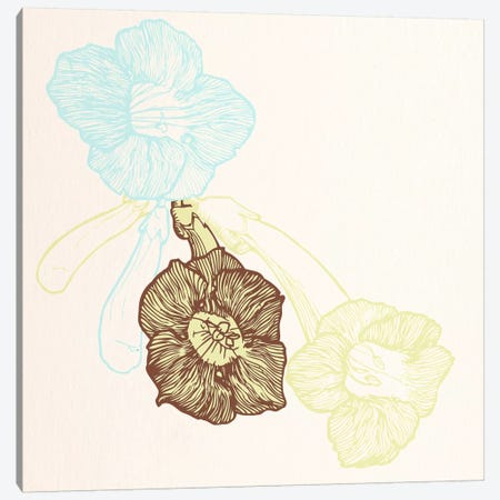 Flowers (Yellow&Blue) Canvas Print #FLPN159} by 5by5collective Canvas Art Print