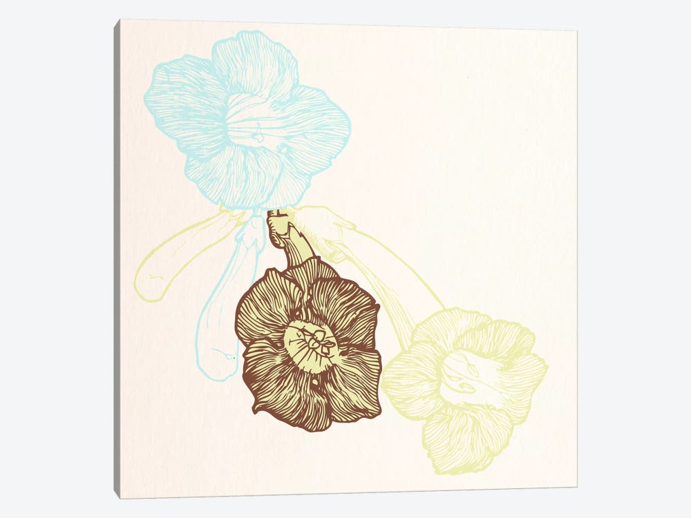 Flowers (Yellow&Blue) by 5by5collective 1-piece Canvas Art Print