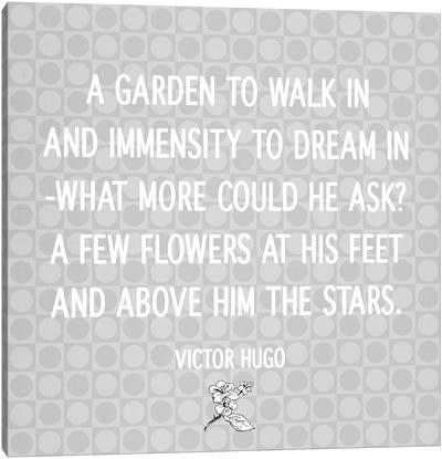 Flowers At His Feet Canvas Print #FLPN16