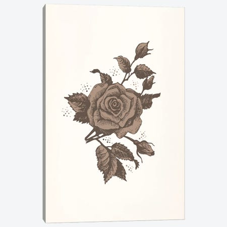 Brown Rose Canvas Print #FLPN18} by 5by5collective Canvas Art Print