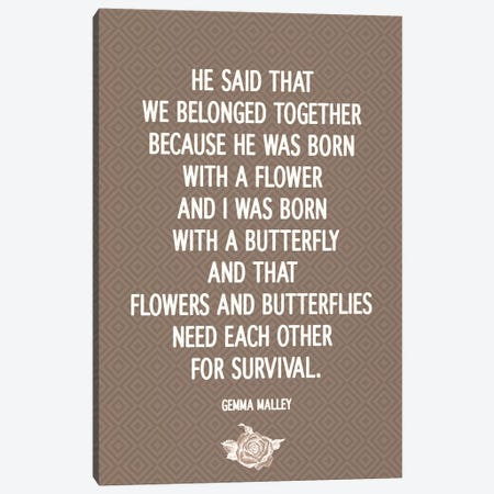 Flowers & Butterflies Canvas Print #FLPN20} by 5by5collective Canvas Artwork