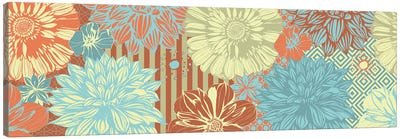 Flower Pattern (Tri-Color) Canvas Art Print