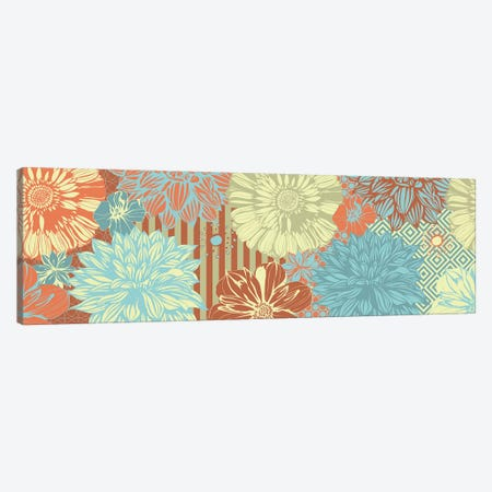 Flower Pattern (Tri-Color) Canvas Print #FLPN21} by 5by5collective Canvas Art