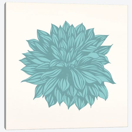 Flower (Blue) Canvas Print #FLPN22} by 5by5collective Canvas Wall Art