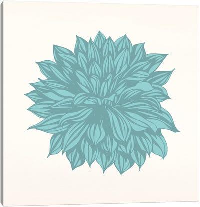 Flower (Blue) Canvas Print #FLPN22
