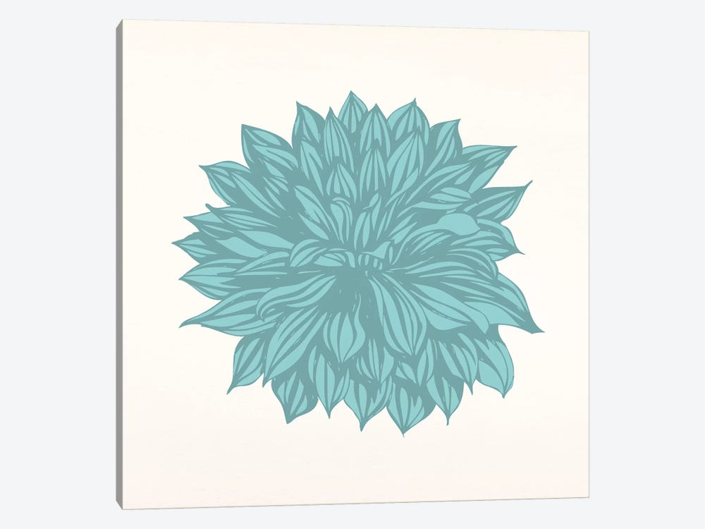 Flower (Blue) by 5by5collective 1-piece Canvas Print