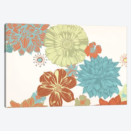 Flowers (Tri-Color) Canvas Print #FLPN23} by 5by5collective Canvas Artwork