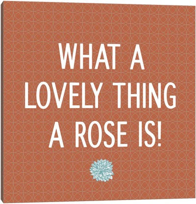 Roses Are Lovely Canvas Print #FLPN24
