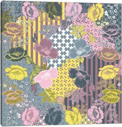 Violets & Ornaments (Multi-Color) Canvas Art Print