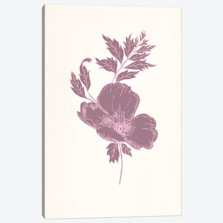Violet & Leaves (Vinious) Canvas Print #FLPN26} by 5by5collective Canvas Art Print