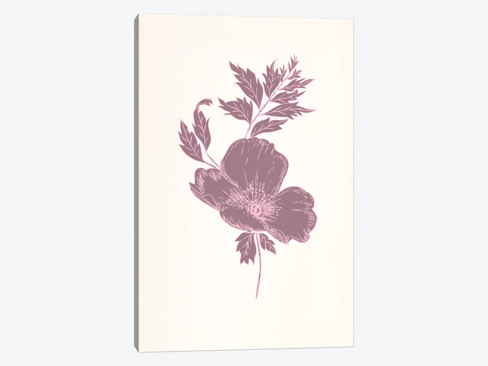 Violet & Leaves (Vinious) 1-piece Art Print