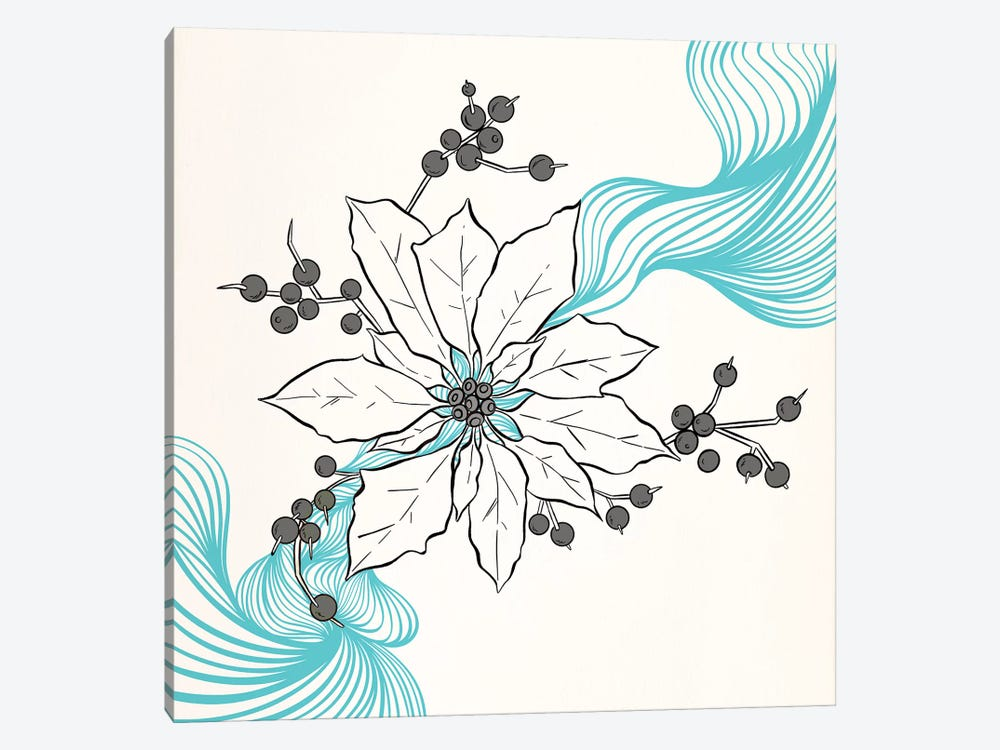 Tri-Colored Flower by 5by5collective 1-piece Canvas Art