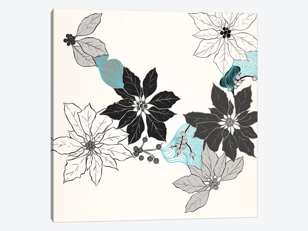 Shades of Flowers by 5by5collective 1-piece Canvas Print