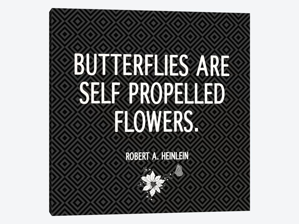 Butterflies are Flowers by 5by5collective 1-piece Canvas Art