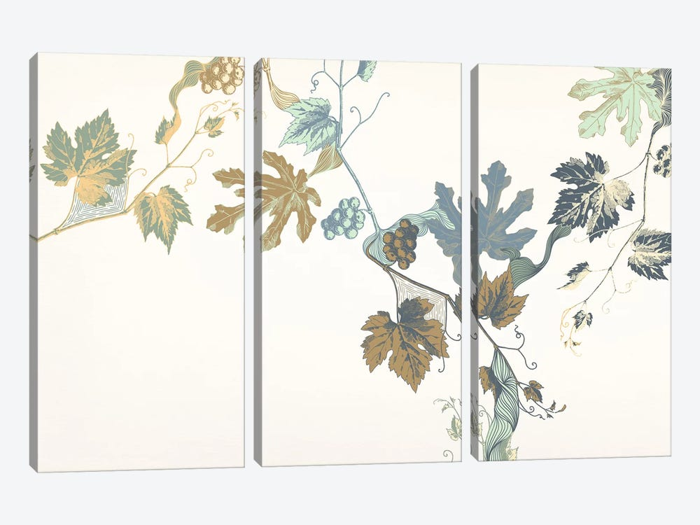 Rowan & Leaves by 5by5collective 3-piece Canvas Art Print