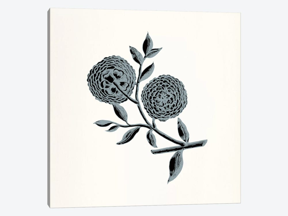 Chrysanthemum (Gray) by 5by5collective 1-piece Canvas Art Print