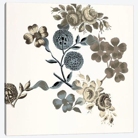 Floral Composition (Tri-Color) Canvas Print #FLPN43} by 5by5collective Canvas Art