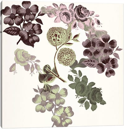 Floral Variety (Tri-Color) Canvas Art Print