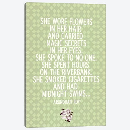 She Wore Flowers Canvas Print #FLPN48} by 5by5collective Canvas Art
