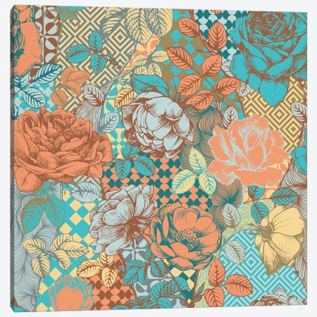 Flowers & Ornaments Canvas Print #FLPN49} by 5by5collective Canvas Wall Art
