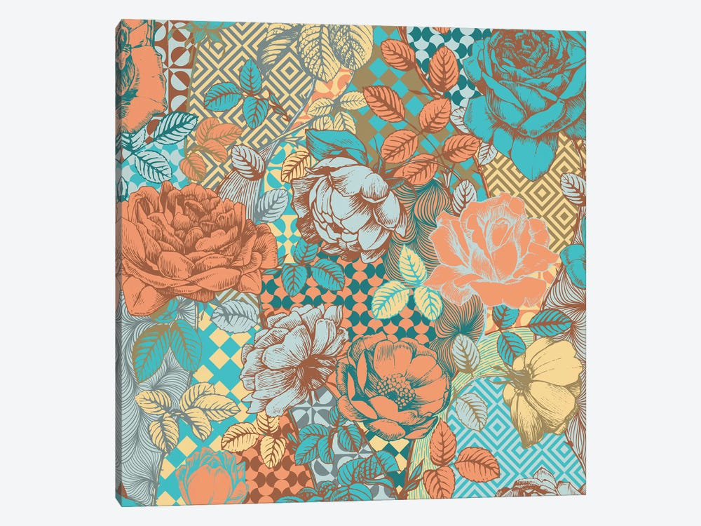 Flowers & Ornaments by 5by5collective 1-piece Canvas Artwork