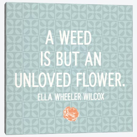 Unloved Flower Canvas Print #FLPN52} by 5by5collective Canvas Art Print