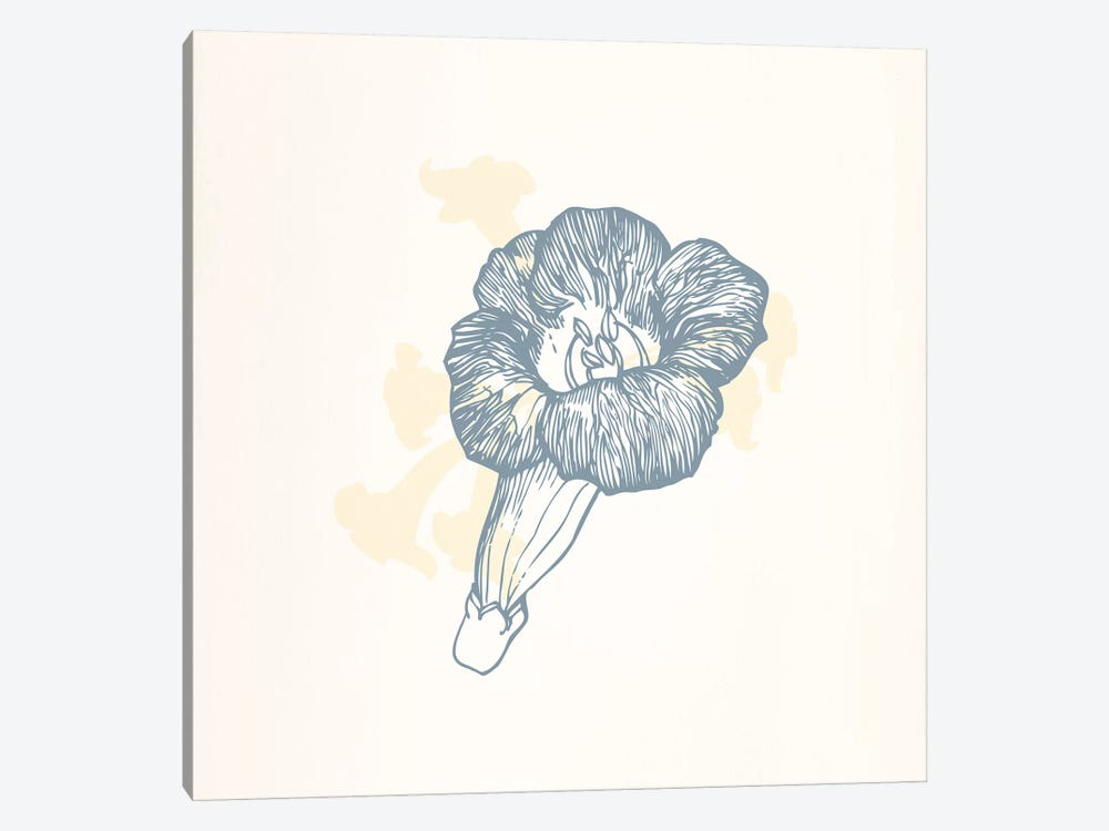 Gray Poppy on Yellow by 5by5collective 1-piece Canvas Wall Art