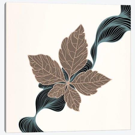 Brown Leaf Canvas Print #FLPN58} by 5by5collective Canvas Print