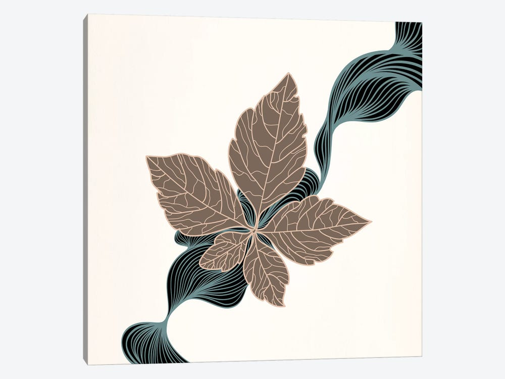 Brown Leaf by 5by5collective 1-piece Canvas Art