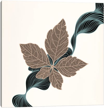Brown Leaf Canvas Art Print