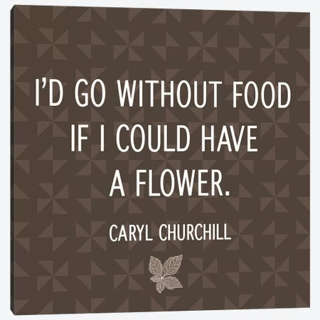 Flower for Food Canvas Print #FLPN60} by 5by5collective Canvas Art