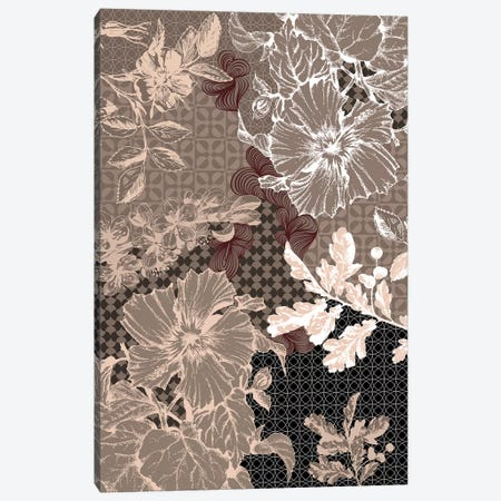 Flower Patterns (Brown) Canvas Print #FLPN61} by 5by5collective Canvas Art