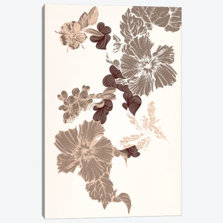 Flowers (Brown) Canvas Print #FLPN63} by 5by5collective Canvas Wall Art