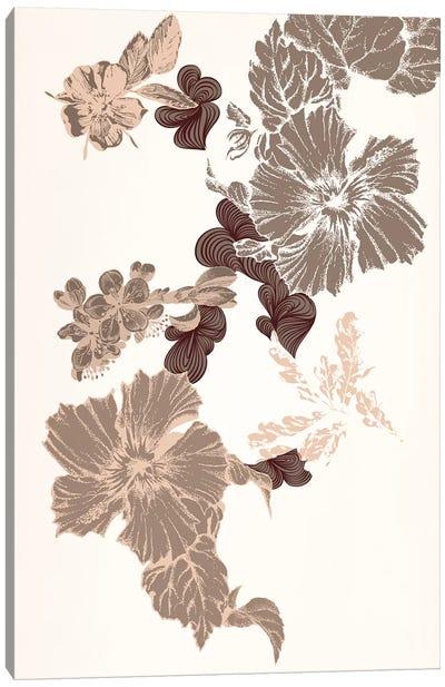 Flowers (Brown) Canvas Print #FLPN63