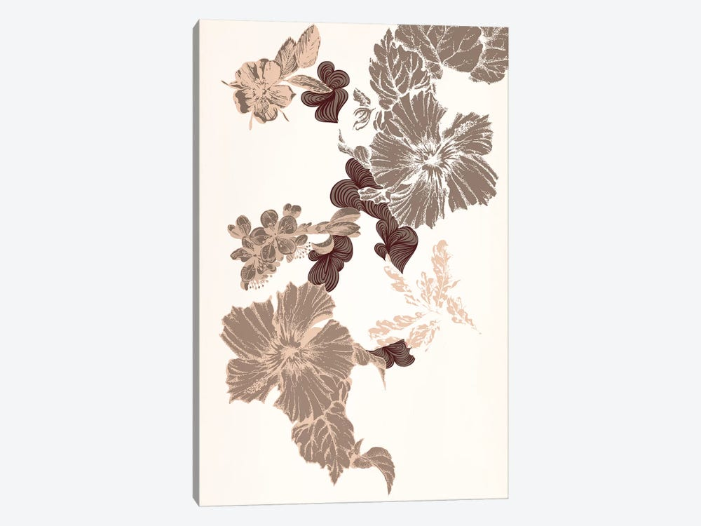 Flowers (Brown) by 5by5collective 1-piece Canvas Artwork