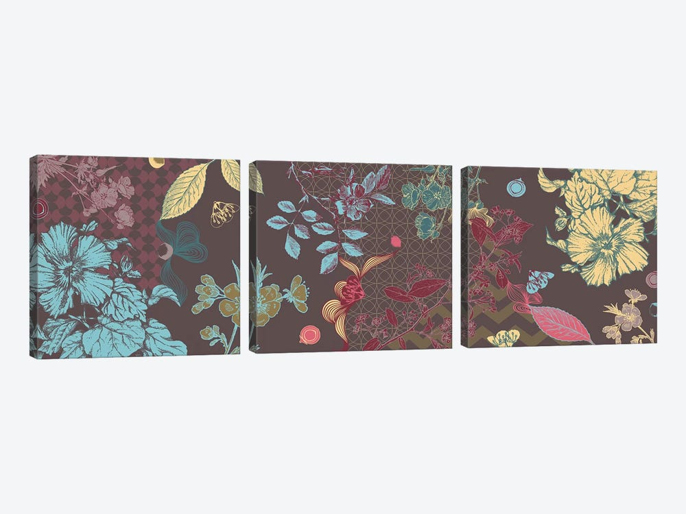 Flowers of All Colors by 5by5collective 3-piece Canvas Artwork