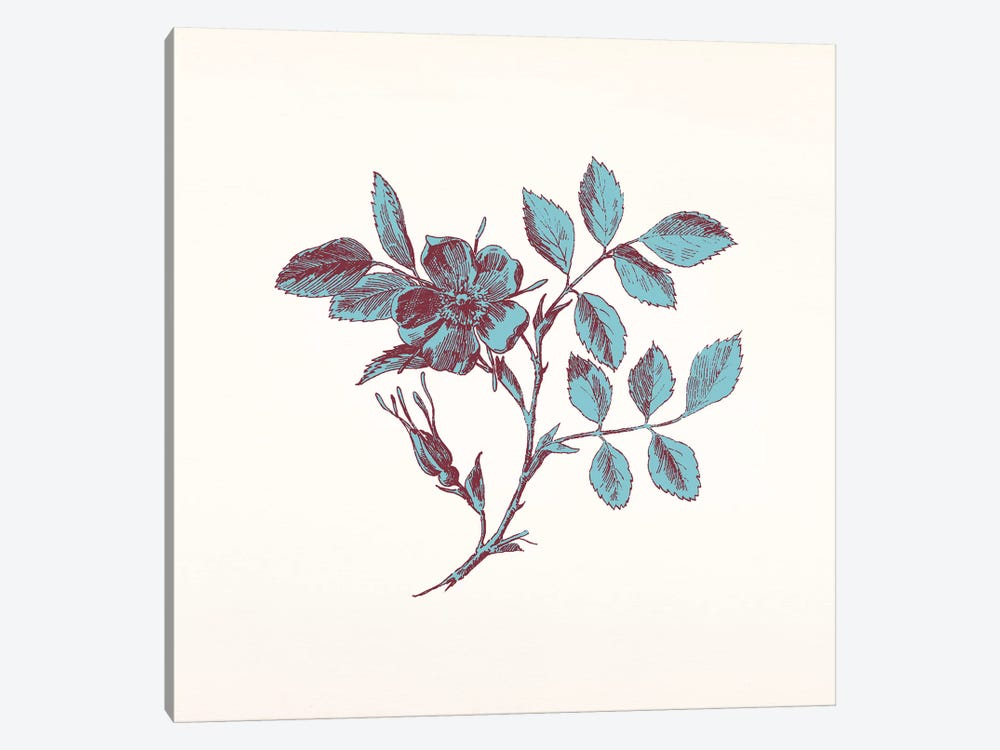 Blue Sprig 1-piece Art Print