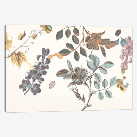 Sprigs&Flowers (Multi-Color) Canvas Print #FLPN71} by 5by5collective Art Print