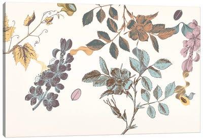 Sprigs&Flowers (Multi-Color) Canvas Print #FLPN71