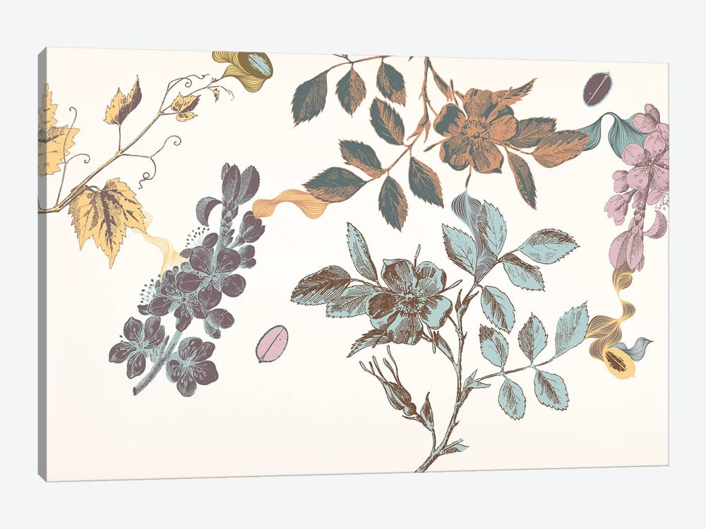 Sprigs&Flowers (Multi-Color) by 5by5collective 1-piece Art Print