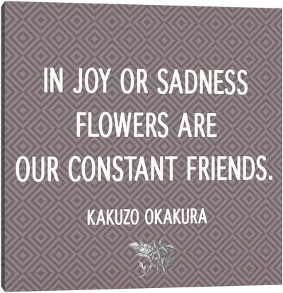 Flowers Are Our Friends Canvas Art Print
