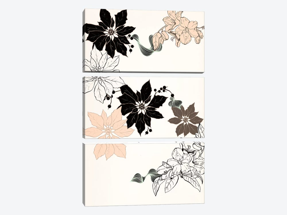 Flowers & Berries by 5by5collective 3-piece Art Print