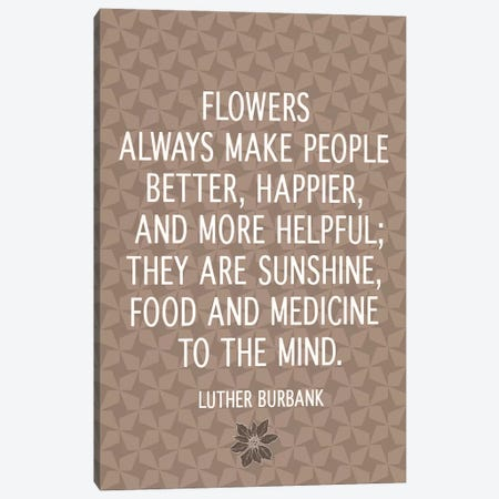Flowers Are Happiness Canvas Print #FLPN80} by 5by5collective Canvas Art
